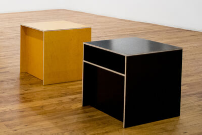 Donald Judd, 'Set of two Shelf Plywood Stools', 1992