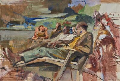 Richard Estes, 'People on Park Bench'