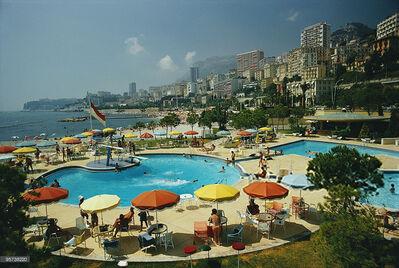 Slim Aarons, 'Slim Aarons  Monte Carlo Beach Club, Monaco (Slim Aarons Estate Edition)', 1970