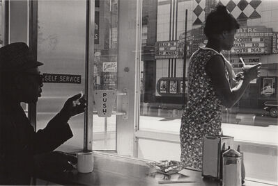 Ed Sievers, 'Untitled (two people in diner)', c. 1960's
