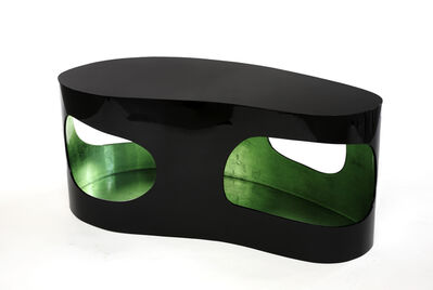 """Jacques Jarrige, 'Coffee Table """"Cloud"""" with Silver Leaf and Green lacquer', 2016"""