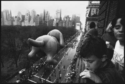 Burt Glinn, 'USA. New York City. 1992. Balcony overlooking the Thanksgiving Day Parade on Central Park West.', 1992