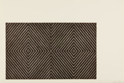 Frank Stella, 'Delphine and Hippolyte, from Black Series II', 1967