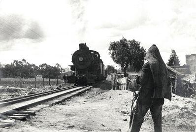 Helen Levitt, 'Mexico City (hooded figure, approaching train)', 1942
