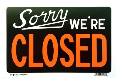 Adam McEwen, 'Sorry, We're Closed', 2012