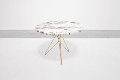 Unattributed, 'Italian Mid-Century Marble & Brass Side Table', 1950-1959