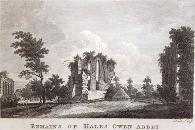 Unknown Artist, 'Remains of Hales Owen Abbey', ca. 1780