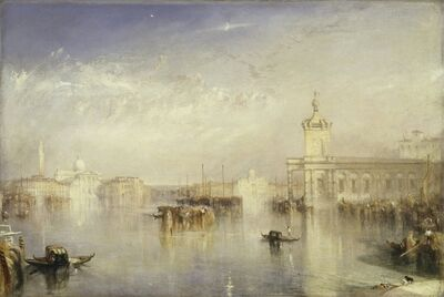 J. M. W. Turner, 'The Dogano, San Giorgio, Citella from the Steps of the Europa', 1842
