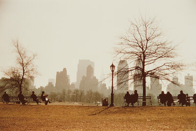 Ruth Orkin, 'Looking Across Sheep Meadow Toward Central Park South, New York City', 1958