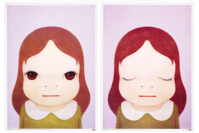 Yoshitomo Nara, 'COSMIC GIRLS: EYES OPEN/EYES CLOSED', 2008