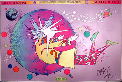Peter Max, 'Moon Tripping (in honor of the Apollo moon landing, 1969) ', 1969