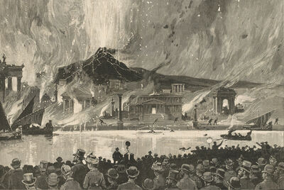"Charles Graham, 'Fire-Works at Manhattan Beach—""The Last Days of Pompeii""', Published in Harper's Weekly, July 25, 1885"