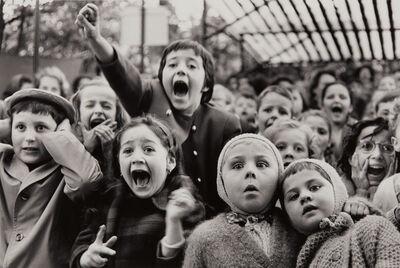 Alfred Eisenstaedt, 'Children at a Puppet Theatre, Paris', 1963-printed 1989