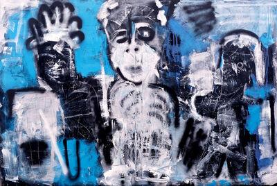 Stian Deetlefs, 'Three figures on the street', 2020