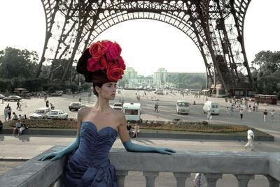 Frank Horvat, 'Patrizia (For Figaro Madame, Eiffel Tower), Paris', 1986