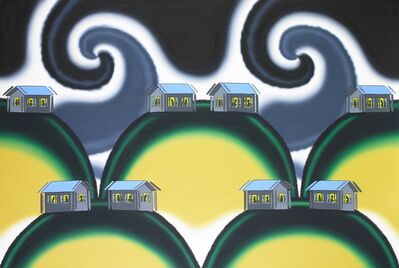 Roger Brown, 'Dancing Houses-The Earthquake of 1994', 1994