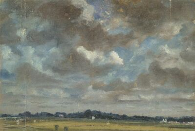 John Constable, 'Extensive Landscape with Grey Clouds', ca. 1821