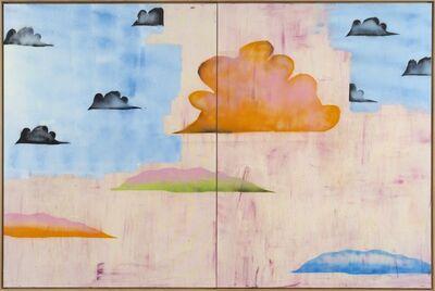 Benoît Maire, 'Peinture de nuages (diptyque)', 2020