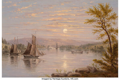 William Rickarby Miller, 'Sunrise on Lake Champlain', circa 1885