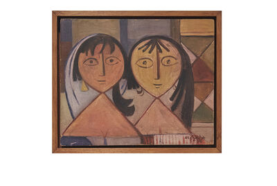"Jewad Selim, 'Untitled (""Two Figures)', 1951"