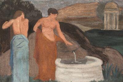 Joaquín Torres-García, 'Figuras femeninas junto a fuente', 1905