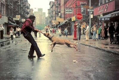 Jamel Shabazz, 'Man and Dog, Lower East Side, Manhattan NYC ', 1980