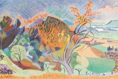 André Lhote, 'Le Rhône à Mirmande', painted circa 1950 -55.