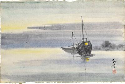 Kakunen Tsuruoka, 'moored junks', n.d.-ca. 1942