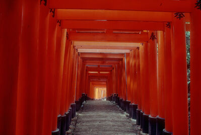 Burt Glinn, 'Kyoto. Fushimi Temple with hundreds of red Torii along its walkways.', 1984
