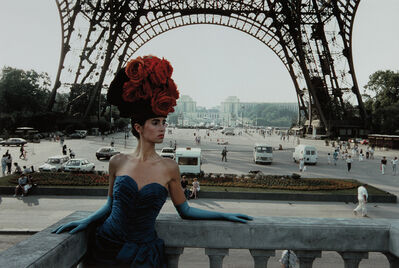 Frank Horvat, 'Red Hat and Eiffel Tower, Patrizia for Figaro Magazine, Paris', 1986