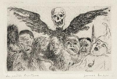 James Ensor, 'Les Péchés Capitaux Dominés par la Mort', 1904