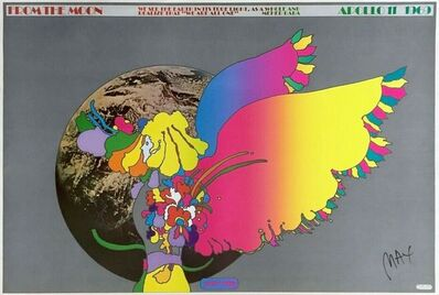 Peter Max, 'Moon Landing, Signed Original 1969 Vintage Offset Lithograph Psychedelic ', 1969