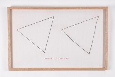 Jaroslaw Kozlowski, 'Modal Drawing (Almost Triangles)', 1975