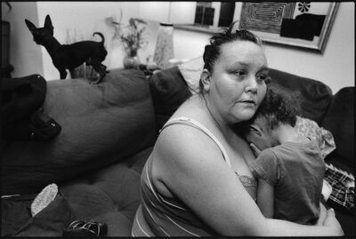 Mary Ellen Mark, 'Tiny and J'Lisa on the couch', 2014
