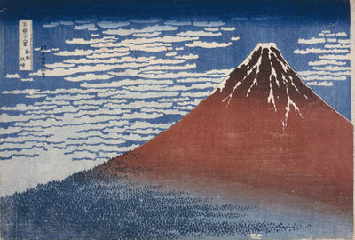 Katsushika Hokusai, 'Fine Wind, Clear Morning (Gaif^u kaisei)', ca. 1800-1849