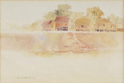 Min Wae Aung, 'River Scene Near Bathein', 1992