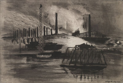Adolf Arthur Dehn, 'Chicago Steel Mills', 1930