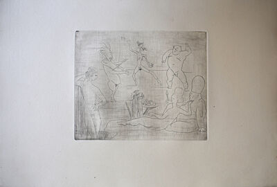 Pablo Picasso, ' The Barbarous Dance (in Front of Salomé and Hérod), from: Saltimbanques Suite | La Danse barbare [devant Salomé et Hérode]: La Suite des Saltimbanques', 1905