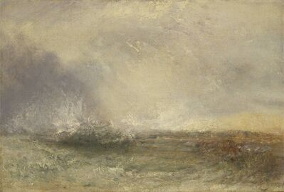 J. M. W. Turner, 'Stormy Sea Breaking on a Shore', 1840-1845