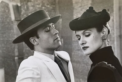 Helmut Newton, 'Paloma Picasso and Raphael Lopez'
