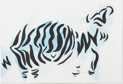 Sarah Crowner, 'Stripe Sketch 6', 2020