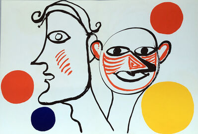 Alexander Calder, 'Alexander Calder Derrière le Miroir lithograph (Calder prints)', 1971