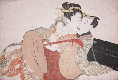 Kitagawa Utamaro, 'The Music Lesson', ca. 1804