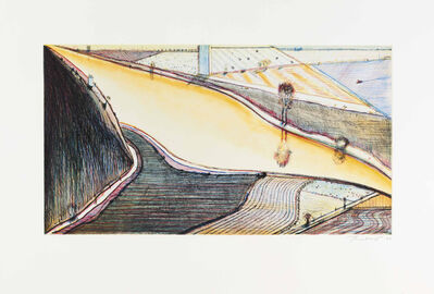 Wayne Thiebaud, 'Hill River', 2002