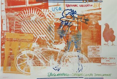 Robert Rauschenberg, 'Bicycle, National Gallery', 1992