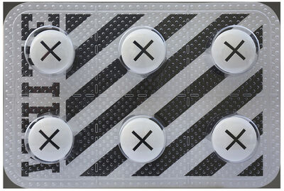 Jonathan Paul (aka Desire Obtain Cherish), 'Designer Drugs - Six Pack Off White', 2018
