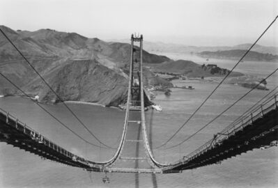 Peter Stackpole, 'Golden Gate Bridge Under Construction, California', 1935-printed later