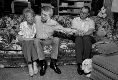 Sage Sohier, 'Gordon & Jim, with Gordon's mother Margot, San Diego', 1987