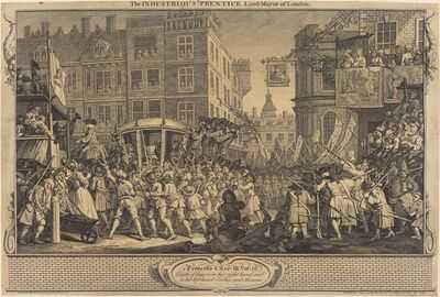 William Hogarth, 'The Industrious 'Prentice Lord-Mayor of London', 1747