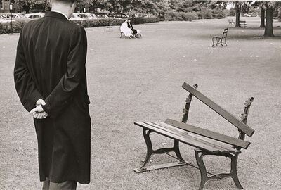 André Kertész, 'Broken Bench, September 20, 1962, New York City', 1962 / 1962c